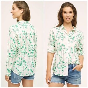 Anthropologie Holding Horses Floral Button Up 10